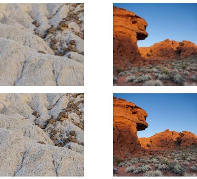 Foto en pantalla retina vs normal