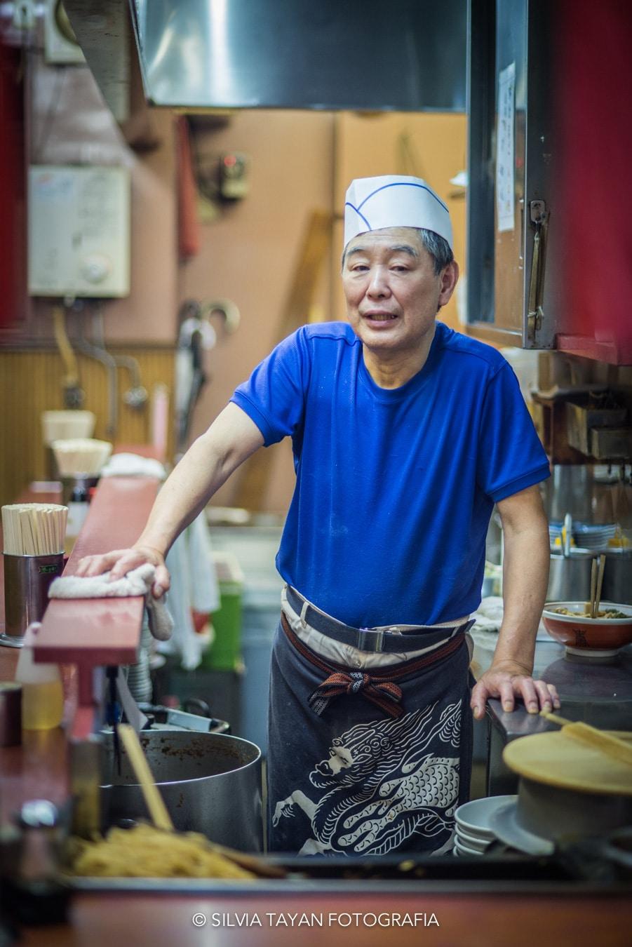Cocinero japonés Silvia Tayan