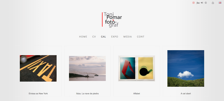 Portada galerías web Toni Pomar