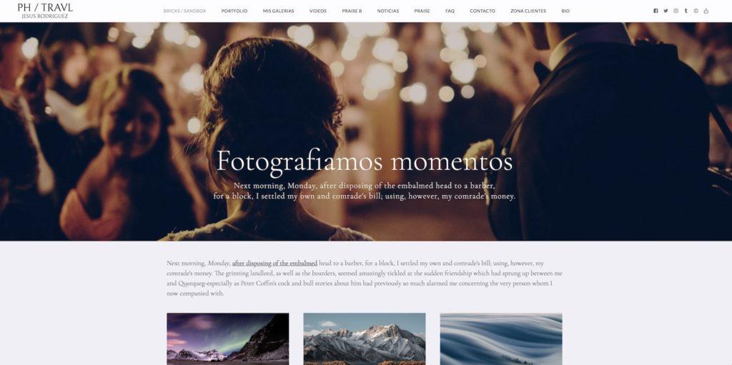 fotos panorámicas con texto