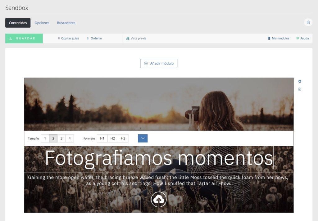 Crear un banner de imagen para tu página de fotógrafo en Bluekea