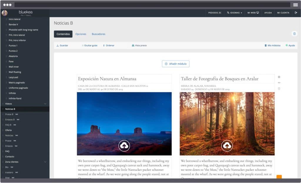 Nuevo formato para tus páginas de testimonios, noticias, enlaces