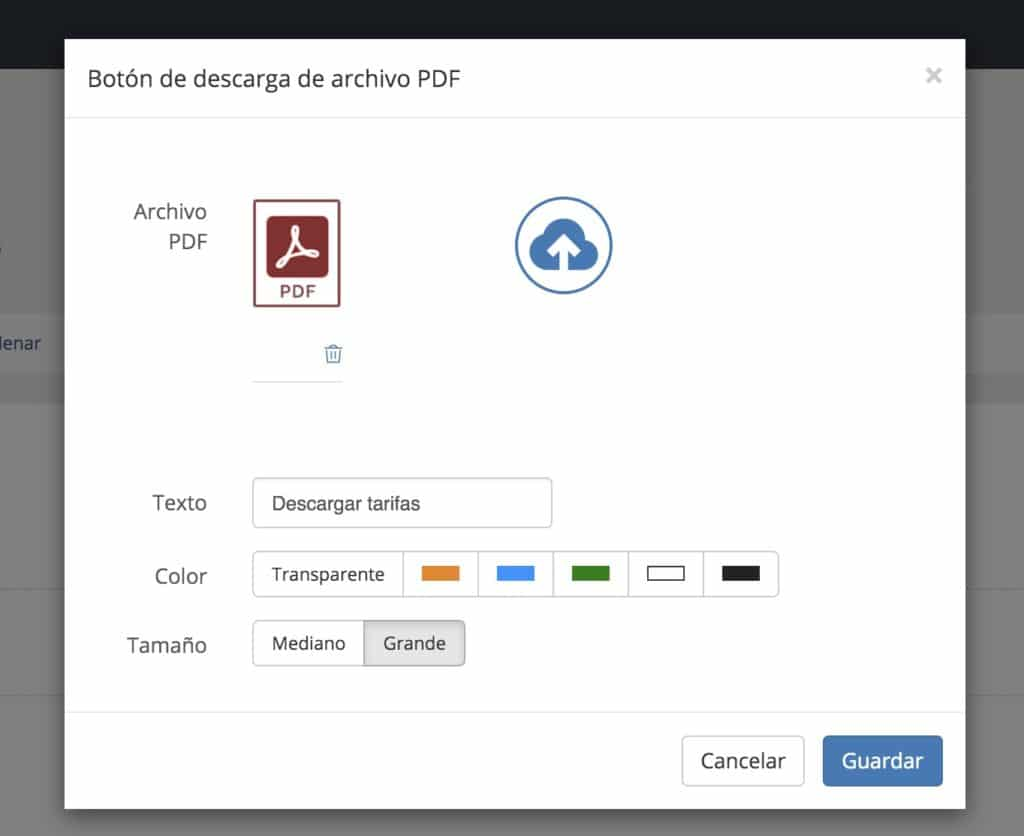 Módulo de descarga de PDF en web