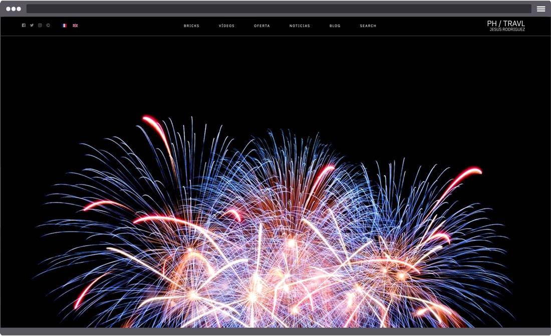 Diseño de galería aoshima para página web