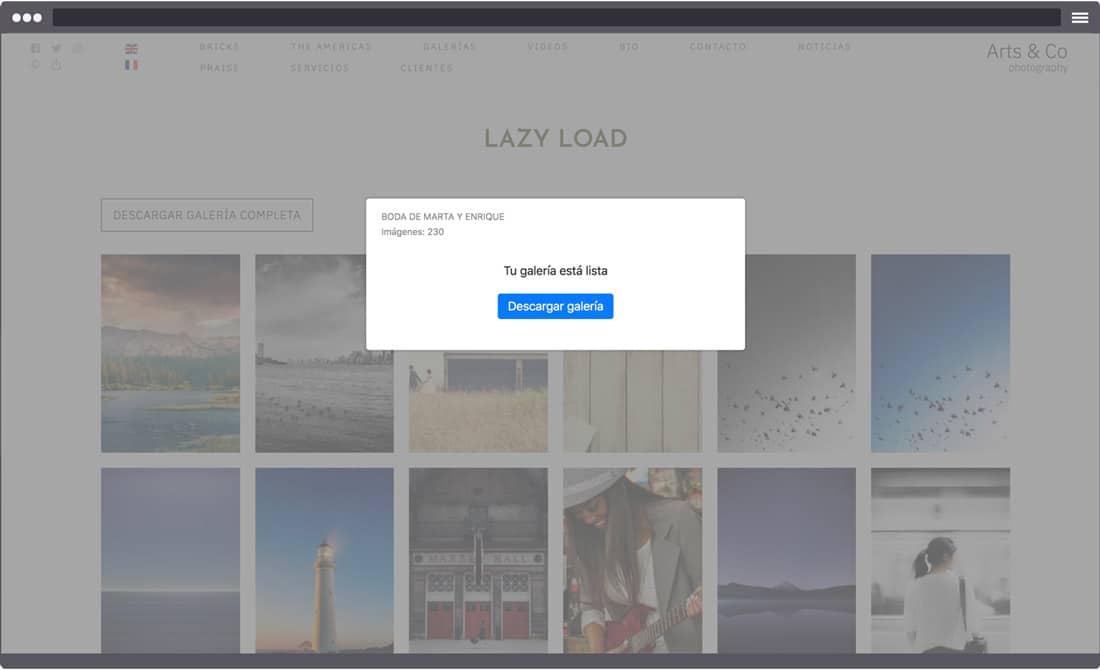 Cómo activar la descarga de galerías completas desde tu web